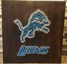 Detroit Lions Home Decor by Detroit Lions Nail String Art