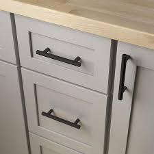 thin black kitchen cabinet handles brainerd bar 3 3 4 in center to center matte black cylindrical bar drawer pulls