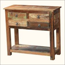 furniture appalachian reclaimed wood rustic console table with 4