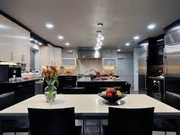 Modern Kitchen Ideas Black And White Wallpaper Black Cabinet And White Countertop For Modern Kitchen