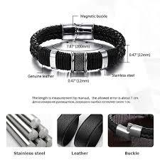 bracelet for wide mens weave chain wristband leather bracelet for men classic