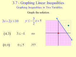 3 7 graphing linear inequalities ppt download