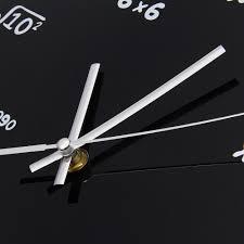 creative mathematics blackboard clock pop quiz living room modern