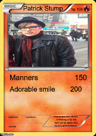 Pokemon Card Meme - want to see my patrick stump pokemon card imgflip