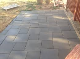 Basket Weave Brick Patio by Patio Of Inexpensive Concrete Pavers U2026 Pinteres U2026