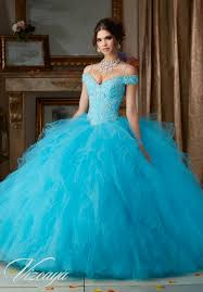 dress for quincea era quinceanera dresses by vizcaya beaded lace on a ruffled tulle