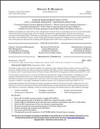 Sample Objectives In A Resume by Sales Manager Resume U0026 General Manager Resume