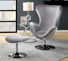 Modern Accent Chair Grey Fabric Modern Accent Chair