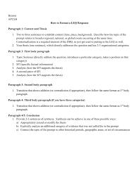 describe thesis benson apush how to format a leq response paragraph 1