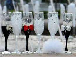 wedding glasses wedding toasting flutes