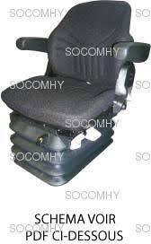 siege pneumatique tracteur agricole siège tracteur tissu pneumatique grammer msg95g 721