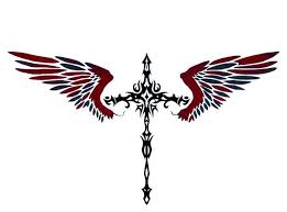 cross tattoos for tribal cross with wings cross tattoos for
