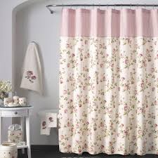 Pink And Grey Shower Curtain by Bath Shower Curtains And Shower Curtain Hooks Touch Of Class