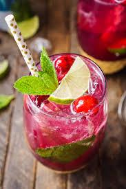 cranberry mojito punch cocktail recipe sugar u0026 soul