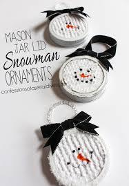 jar lid snowman ornaments the family