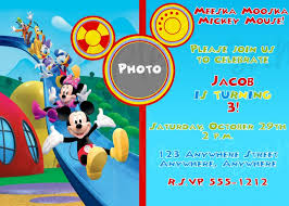 baby mickey mouse first birthday invitations tags mickey mouse