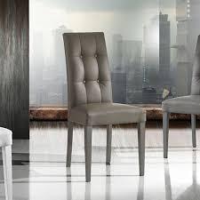 sedie pelle sedie da cucina in finta pelle tortora made in italy 2 pezzi