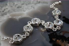 swarovski silver crystal bracelet images Classic elegant sparkling clear white swarovski crystal round jpg