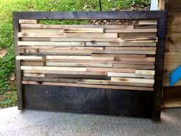 headboard made of pallet slats inspired wood pallet projects