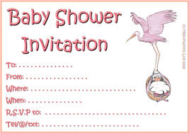 color baby shower invitations for girls templates