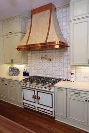 modern english kitchen chopper range hood wooden varnished flooring french wooden kitchen