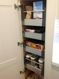 ikea kitchen cabinet shelves pull out pantry next to fridge shelves diy ikea custom beautiful