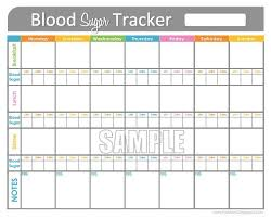 diabetes blood sugar logs blood sugar tracker printable for health medical fitness