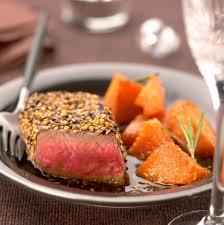 cuisiner un rumsteak recette de rumsteak de bœuf de chalosse au sésame noir et doré