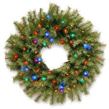 buy wreath pre lit batteries from bed bath beyond