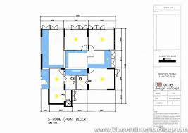 sims drive 5 room hdb point block renovation project by behome