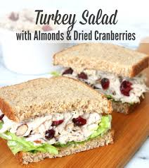 thanksgiving turkey sandwich recipe salad with almonds and dried cranberries