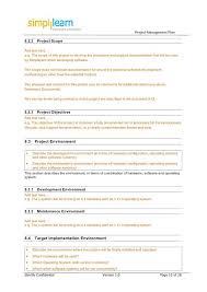 project management plan template 11 project management plan