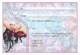 makeup gift certificate template image collections templates
