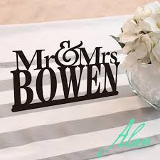 mr mrs wedding table decorations mr mrs wedding table decorations custom last name cake topper