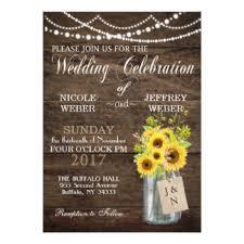 Mason Jar Wedding Programs Sunflower Wedding Invitations U0026 Announcements Zazzle