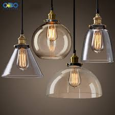 L Shade Pendant Light Vintage Clear Tea Color Glass Shade Pendant L Cord 1 1 5m Wire