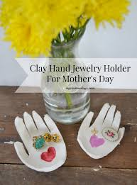 diy clay hand jewelry holder for mother u0027s day make it challenge