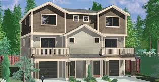 houses with 4 bedrooms narrow lot duplex house plans narrow and zero lot line