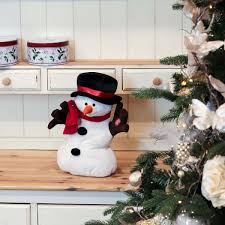 singing and dancing light up snowman christmas figure
