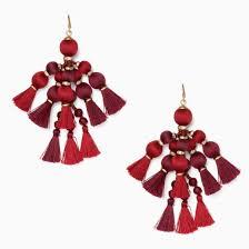 kate spade pretty pom tassel drop earrings kate middleton style