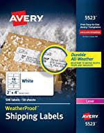 avery trueblock white laser shipping labels 2 x 4 pack of 250 by