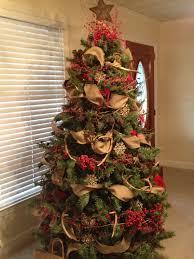country christmas tree christmas lights decoration