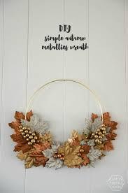 diy simple metallic autumn wreath lemon thistle