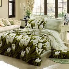 Army Bed Set Fashion Soft Warm Sanding 4pcs Pastel Tulip 3d Bedding Set Army