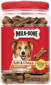 recipe for dog treats milk bone soft chewy chicken recipe dog treats 25 oz tub