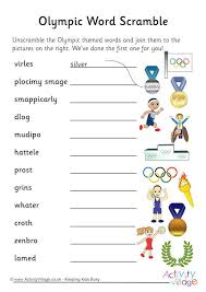 olympic sports word scramble 1