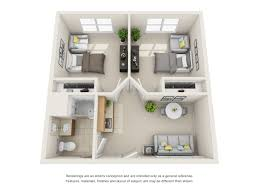 2 Bedroom Floor Plans Senior Living Floor Plans All American Assisted Living At Warwick