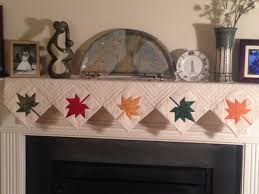 winter fireplace mantle scarf she made two table runners and