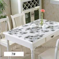 clear table top protector clear soft glass pvc tablecloth dinning table cover protector desk