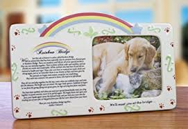 pet bereavement pet bereavement photo frame rainbow bridge poem pet
